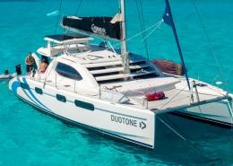 Caribbean kite cruise catamaran