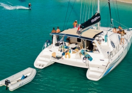 Caribbean kite cruise catamaran in Fregate