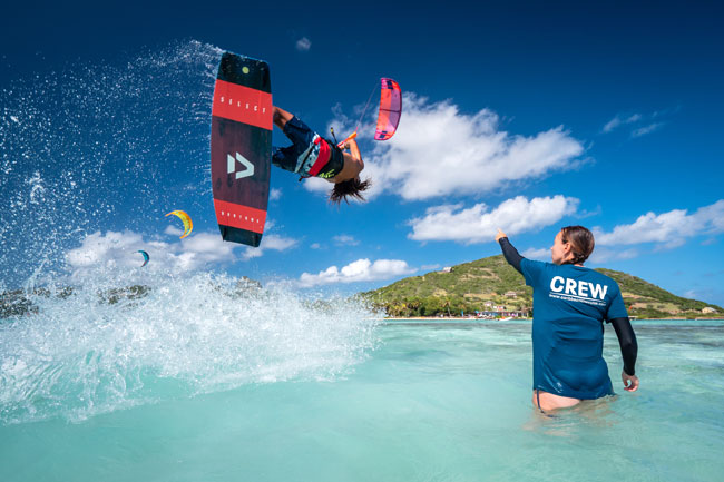 Advanced kitesurf lessons in the Grenadines