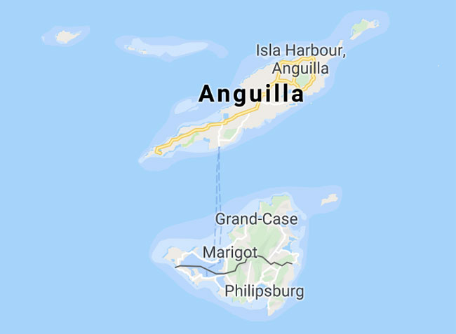 Anguilla Island Map