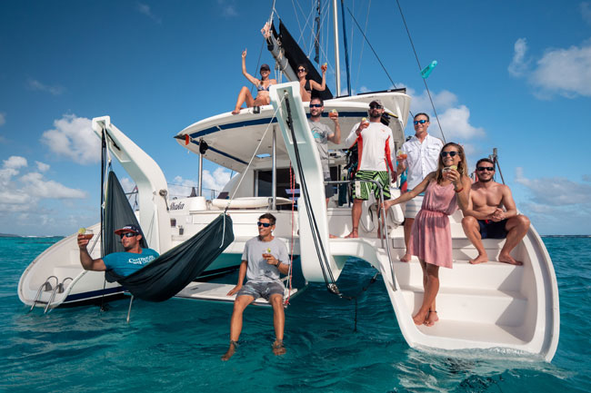 Big Catamaran kite cruise with guest