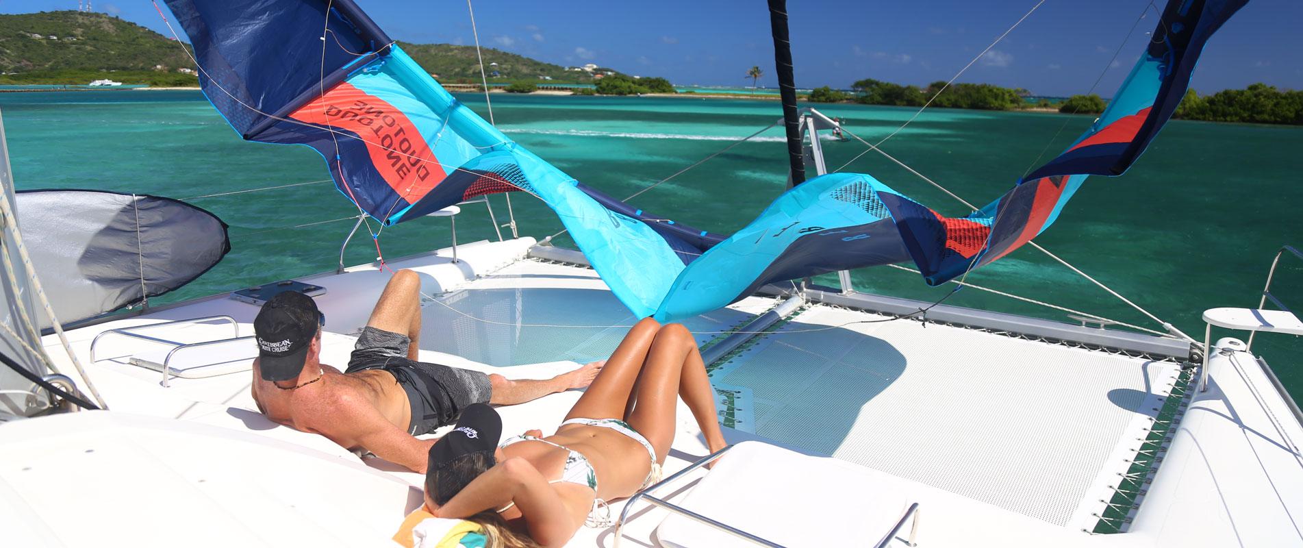 Cabin Kiteboarding Catamaran Charters