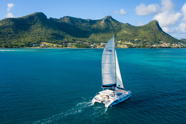Caribbean Kite Trip on Catamaran