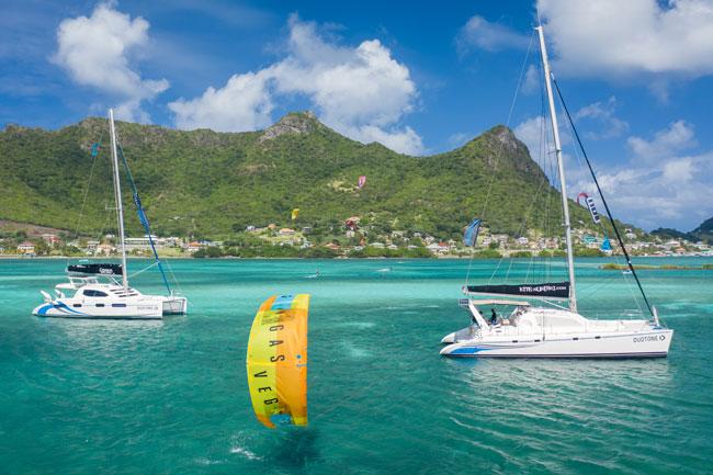 Catamaran Kiteboarding Charter