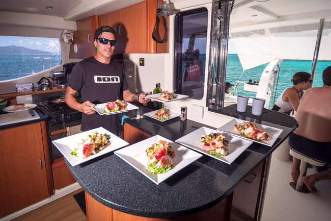 Catering Cheff Onboard Catamaran