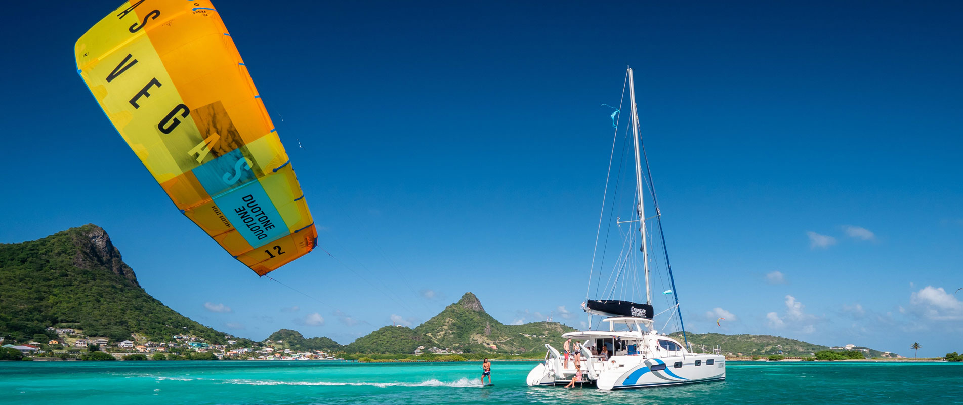 Duotone Catamaran Vegas kite in The Grenadines