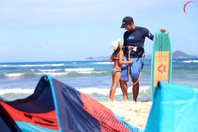 Family in Kite Spot in The Grenadines