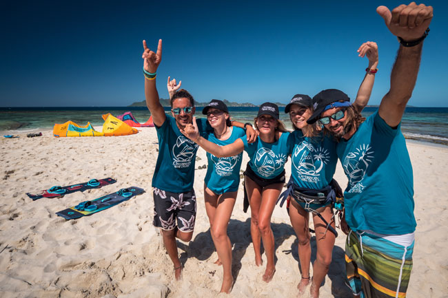 IKO Kitesurf instructors team in the Grenadines
