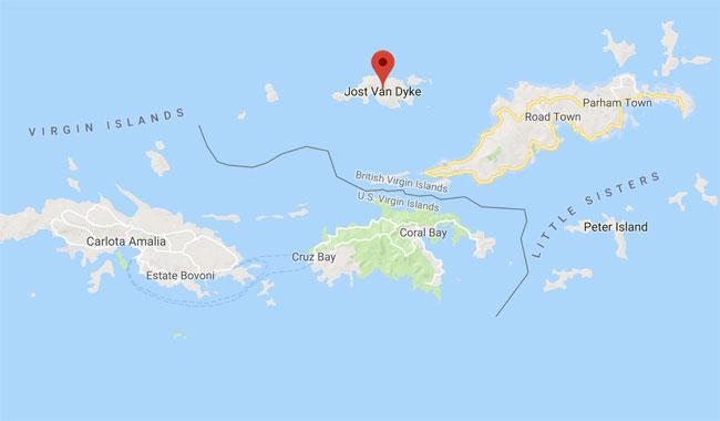Jost Van Dyke Island Map