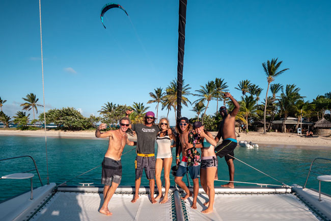 Kite cruise in the Virgin Islands in the Caribbean