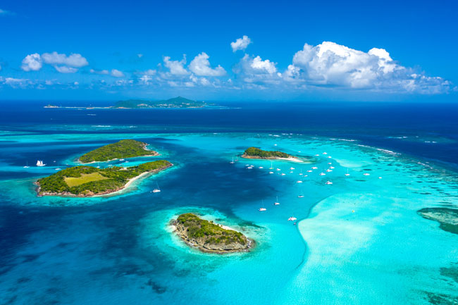 Kite spot Tobago Cays
