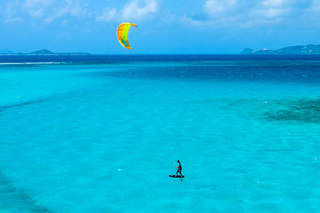 Kite spot in Antigua & Barbuda in the Caribbean