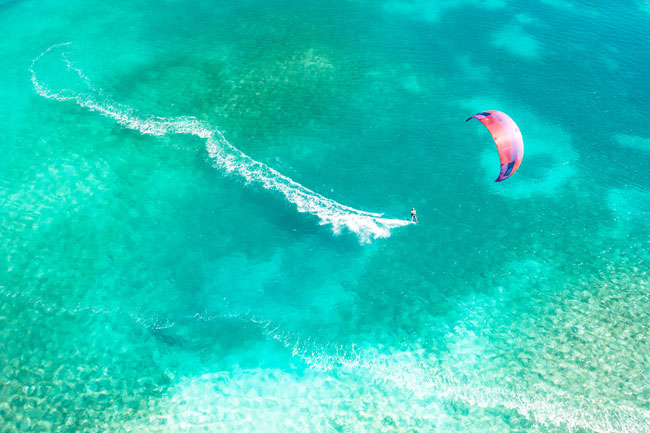 Kite spot in St. Martin & Anguilla in the Caribbean