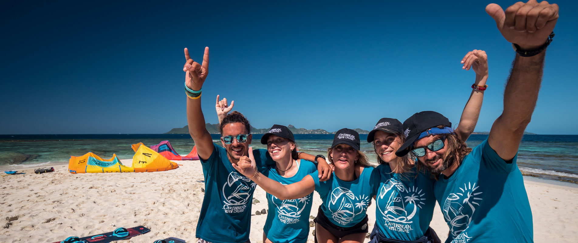 Kitesurf instructors school in the grenadines