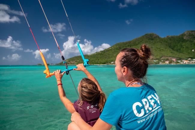 Kitesurf lessons for beginners Grenadines
