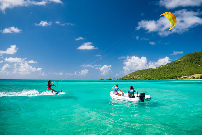 Kitesurf lessons for intermediate level student Grenadines