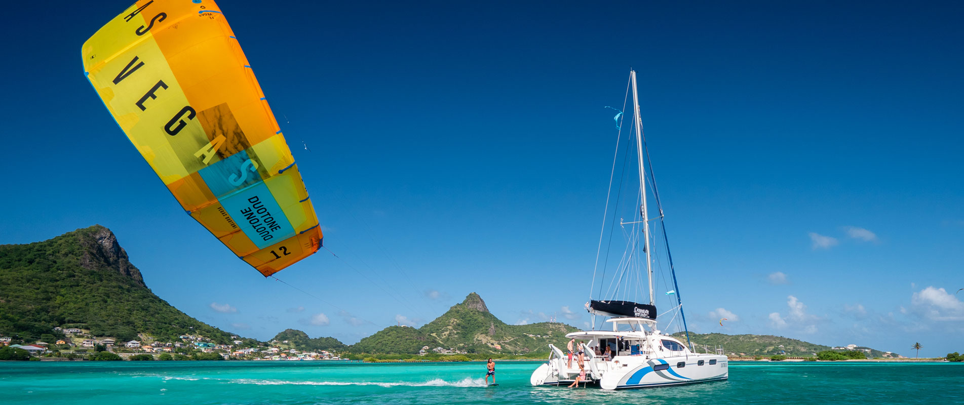 Caribbean Kiteboarding Catamaran Cruise Grenadines