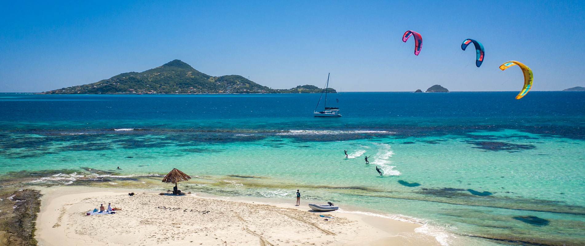 Kitesurfing in the Grenadines