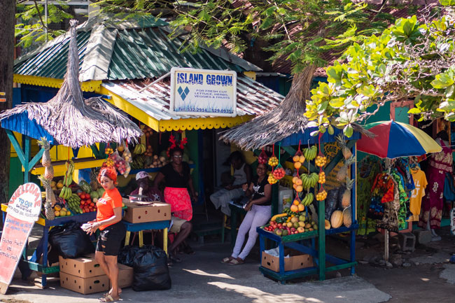 Local market in Union Island Clifton