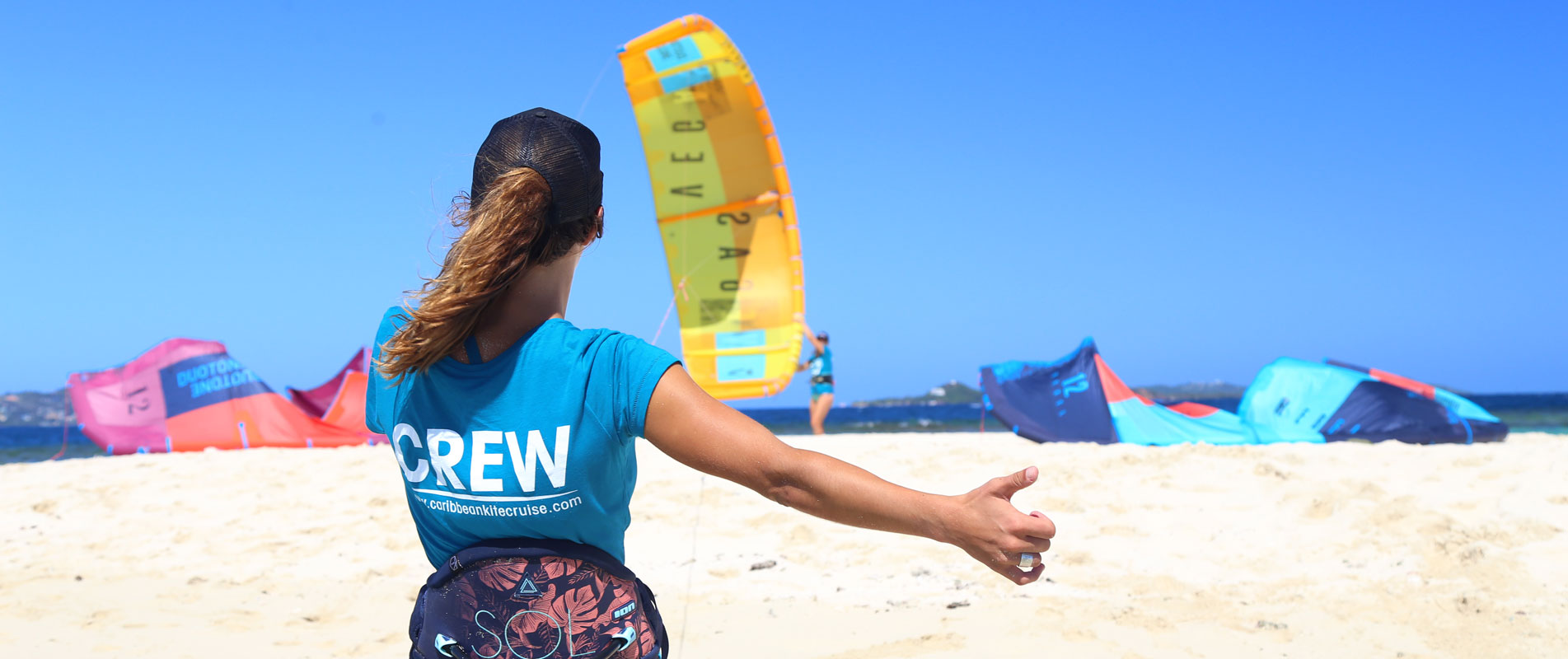 Professional IKO instructor Kite crew