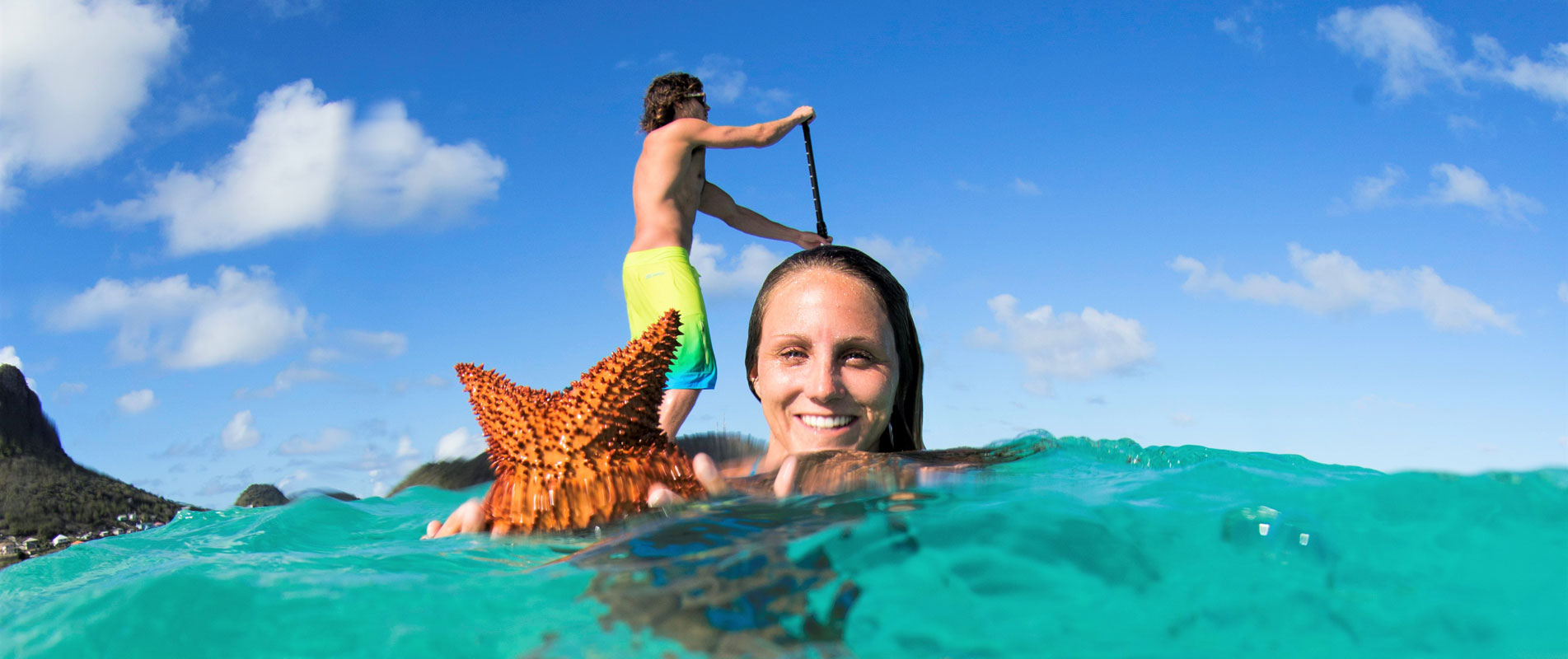 Snorkeling & paddleboard in the Caribbean Grenadines with kite cruise