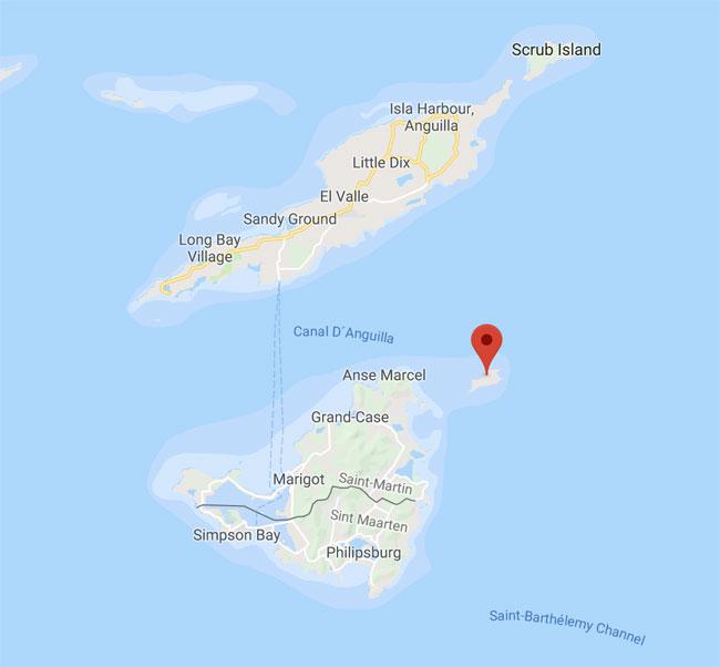 Tintamarre Island Map